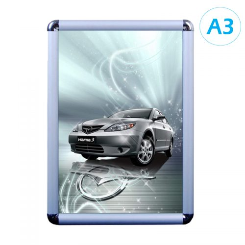 Snap Frame - Silver (Round) - A3
