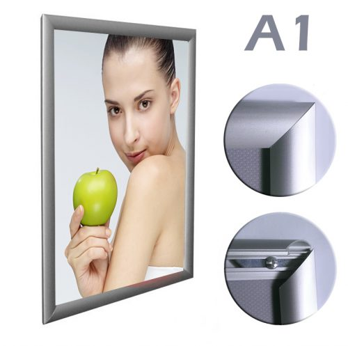 Snap Frame - Silver Matt - A1